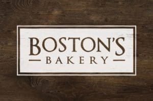 Boston's Bakery Brand Development wooden logo